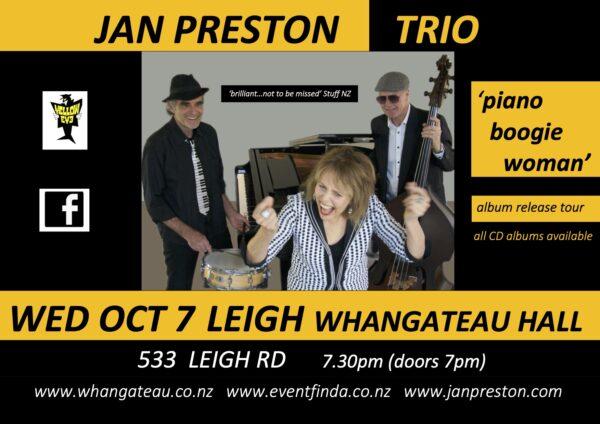 Jan Preston Trio - 7 Oct 2020